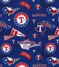 Texas Rangers Cotton Fabric 44\u0022-Vintage