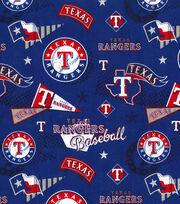 Texas Rangers Cotton Fabric-Vintage, , hi-res