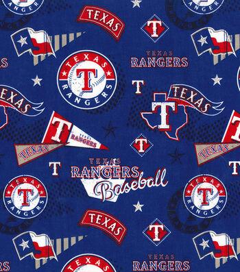 Texas Rangers Cotton Fabric-Vintage