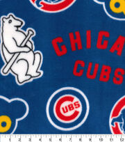 Chicago Cubs Fleece Fabric-Cooperstown, , hi-res