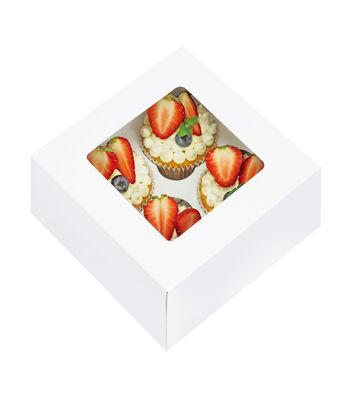 Cupcake Box 3ct-White