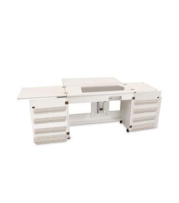Homespun Bertha Sewing Cabinet-White