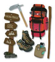 Jolee's Boutique Themed Ornate Stickers-Hiking Trip, , hi-res