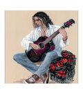 RIOLIS 11.75\u0027\u0027x15.75\u0027\u0027 14-count Counted Cross Stitch Kit-Guitarist