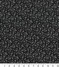 Quilter\u0027s Showcase Cotton Fabric -Flowers Black