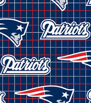"New England Patriots Flannel Fabric 42""-Logo, , hi-res"