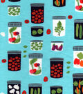 Snuggle Flannel Fabric 42\u0027\u0027-Veggie Filled Mason Jars