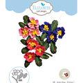 Elizabeth Craft Designs Susan\u0027s Garden Notes 6 pk Metal Dies-Primrose 1