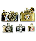 Blue Moon Beads 5 pk Camera Metal Charms-Multi