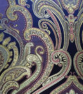 Brocades Fabric -Large Deco Navy