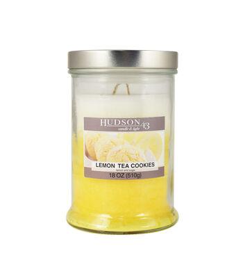 Hudson 43 Candle & Light Collection 18oz Triple Pour Lemon Tea Cookie Jar