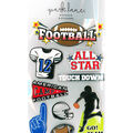 Park Lane Paperie 9 pk 3D Stickers-Footballs