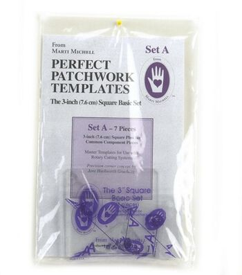Marti Michell 3'' Perfect Patchwork Basic Template Set A