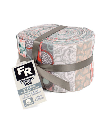 Jelly Roll Cotton Fabric Pack 2.5''x42''-Trend 2