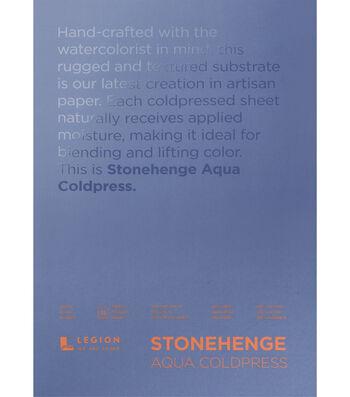 Stonehenge Aqua Coldpress 15-sheet 7''x10'' 140 lbs. Paper Pad-White