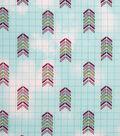 Modern Cotton Fabric -Arrows on Blue