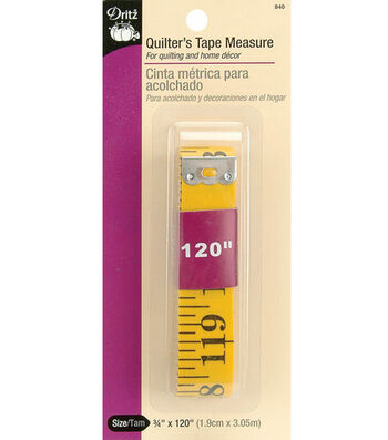 "Dritz Quilter's Fiberglass Tape Measure 0.75""X120"""