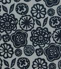 Quilter\u0027s Showcase Fabric 43\u0027\u0027-Navy Fusion Floral