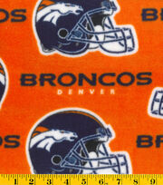 Denver Broncos Fleece Fabric -Orange, , hi-res