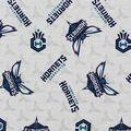 Charlotte Hornets Cotton Fabric -Logo Toss