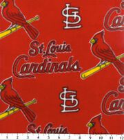 St. Louis Cardinals Fleece Fabric -Red, , hi-res