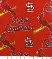 St. Louis Cardinals Fleece Fabric -Red, , hi-res