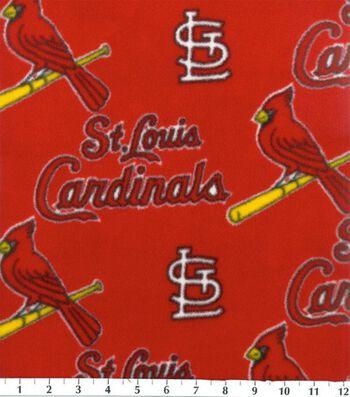 St. Louis Cardinals Fleece Fabric 58''-Red