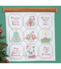Stamped White Wall Or Lap Quilt 36\u0022X36\u0022-Christmas Blessings