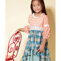 McCall\u0027s Pattern M7528 Children\u0027s/Girls\u0027 Back-Button, Skirts Dresses