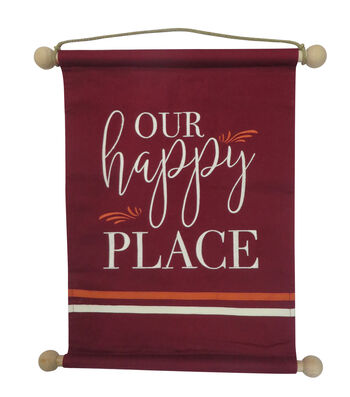 Simply Autumn 13.5''x18'' Banner-Our Happy Place