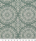 Robert Allen @ Home Upholstery Swatch-Suzani Strie Green & White