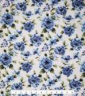 Sportswear Denim Fabric 57\u0022-Blue Floral