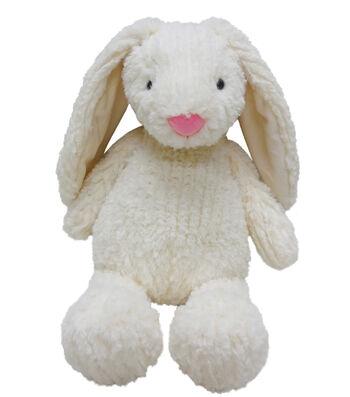 Easter Decor 10'' Sitting Plush Bunny-White