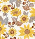 Simply Autumn Sunflowers 60\u0027\u0027 Round Peva Tablecloth