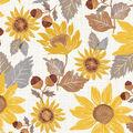 Simply Autumn 60\u0027\u0027 Round Tablecloth-Sunflowers