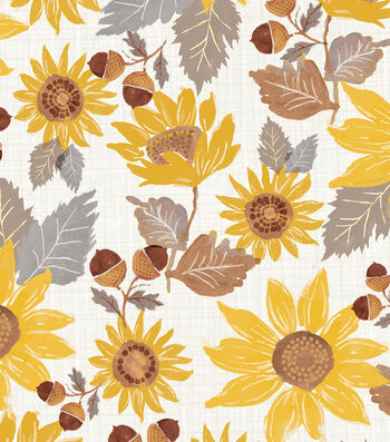 Simply Autumn 60'' Round Tablecloth-Sunflowers