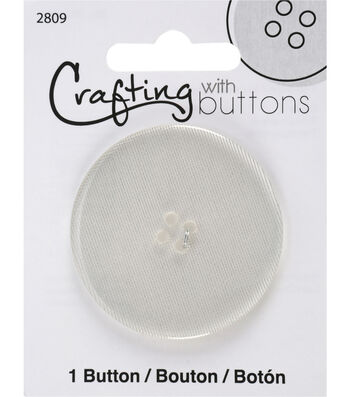 Crafting with Buttons Black & White 2'' Button-Clear