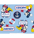 Disney Mickey Mouse Fabric 59\u0027\u0027-Mickey & Minnie Nautical Toss