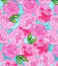 Nursery Flannel Fabric -Unicorn Roses