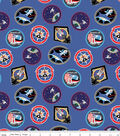 Nasa Cotton Fabric-Patches on Blue