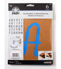 FolkArt 30 pk 6\u0027\u0027 Alphabet & Monogram Paper Stencils-Italic
