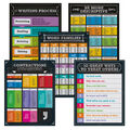 Carson-Dellosa Chalkboard Writing Charts Set of 5