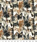 Novelty Cotton Fabric-Photoreal Cats