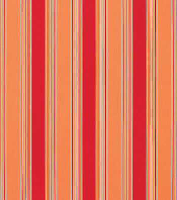 "Sunbrella Outdoor Stripe Fabric 54""-Bravada Salsa"