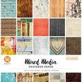 Colorbok 68lb Designer Single-Sided Paper 12\u0022X12\u0022-Mixed Media 25 Designs