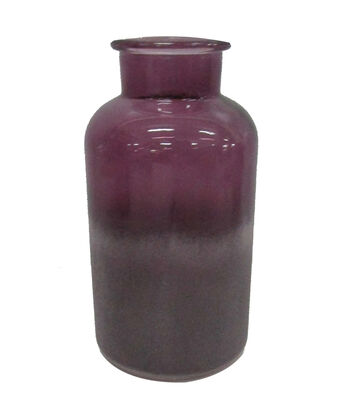 Blooming Autumn Small Frosted Glass Vase-Plum
