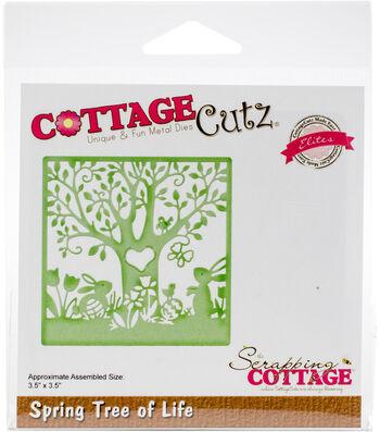 The Scrapping Cottage CottageCutz Elites 3.5''x3.5'' Die-Spring Tree