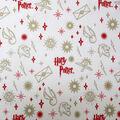 Christmas Harry Potter Metallic Flannel Fabric-Ornaments