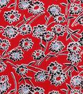 1930\u0027s Cotton Fabric 43\u0027\u0027-Wispy Floral on Red