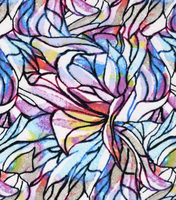"Snuggle Flannel Fabric 42""-Colorfuls Stained Glass"